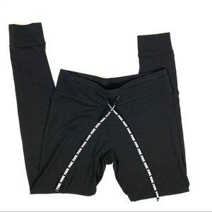 VS PINK Solid Black Lightweight Jogger Pants